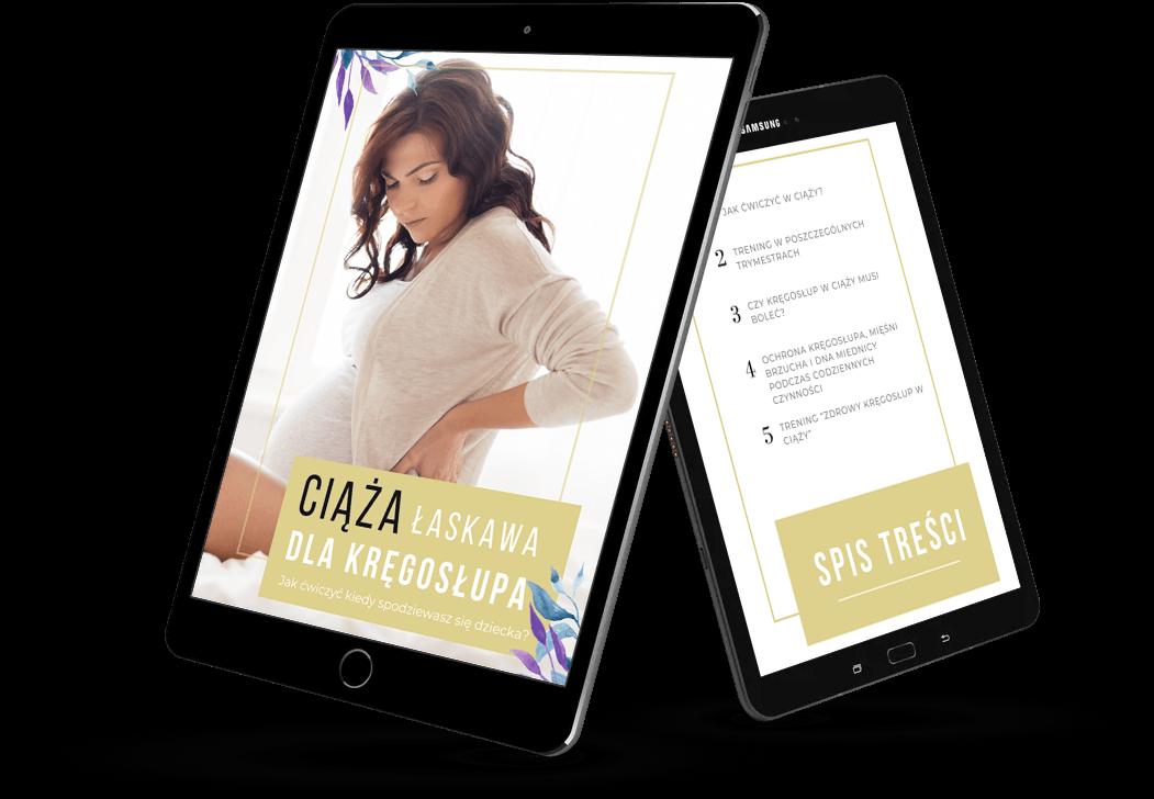 Mock up ebooka Ciąża łaskawa dla kręgosłupa